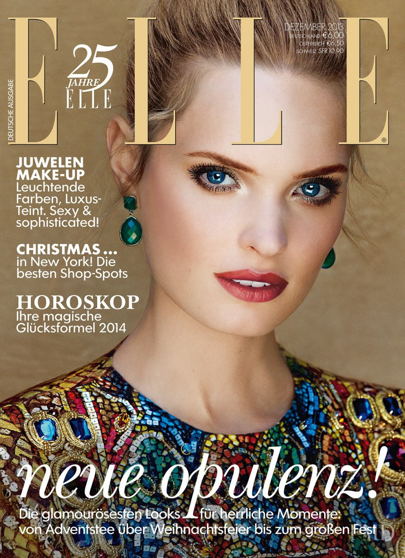 Agnete Hegelund featured on the Elle Germany cover from December 2013