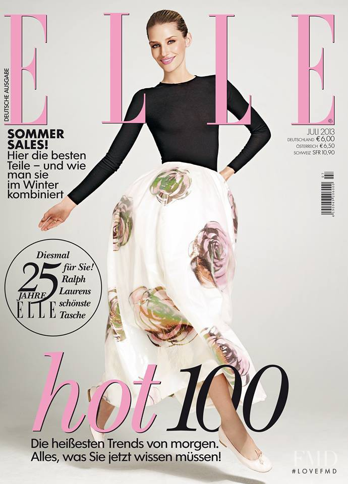 Linda Vojtova featured on the Elle Germany cover from July 2013