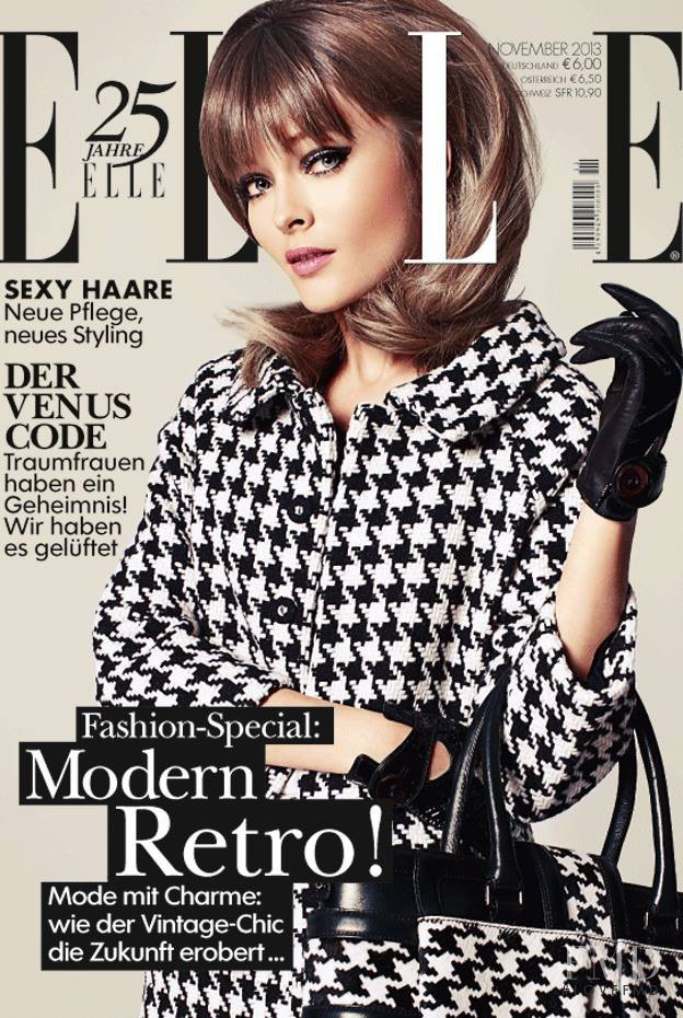 Olga Maliouk featured on the Elle Germany cover from November 2013