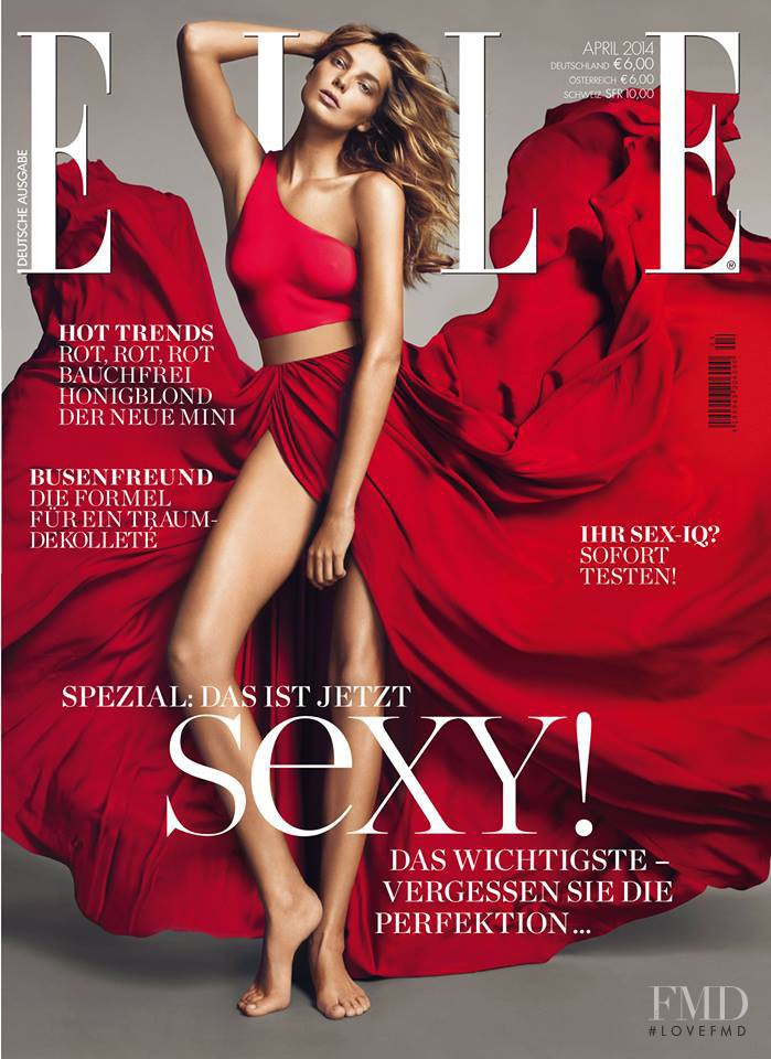 Daria Werbowy featured on the Elle Germany cover from April 2014