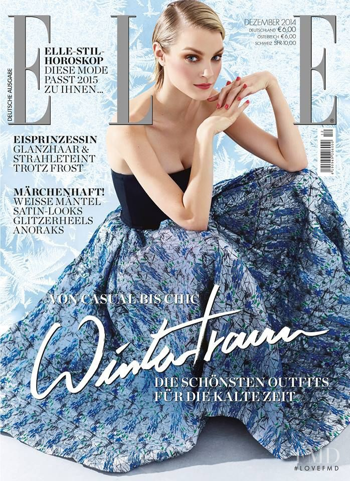 Jessica Stam featured on the Elle Germany cover from December 2014
