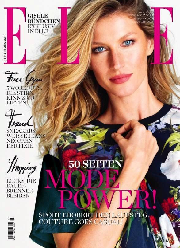 Gisele Bundchen featured on the Elle Germany cover from July 2014