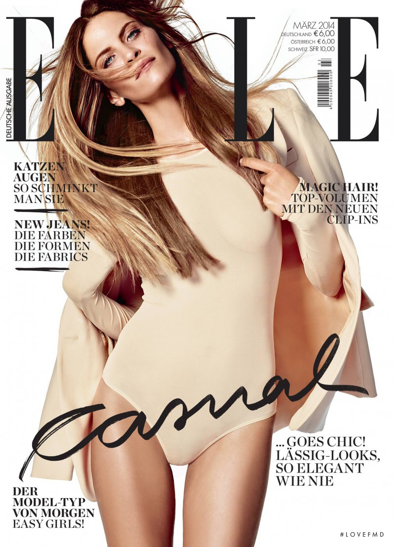Frankie Rayder featured on the Elle Germany cover from March 2014