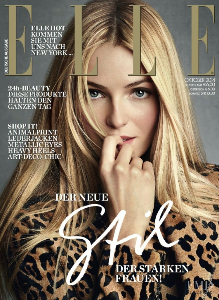 Valentina Zeliaeva featured on the Elle Germany cover from October 2014