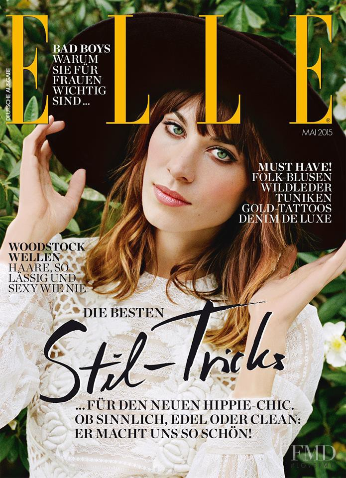 Alexa Chung featured on the Elle Germany cover from May 2015