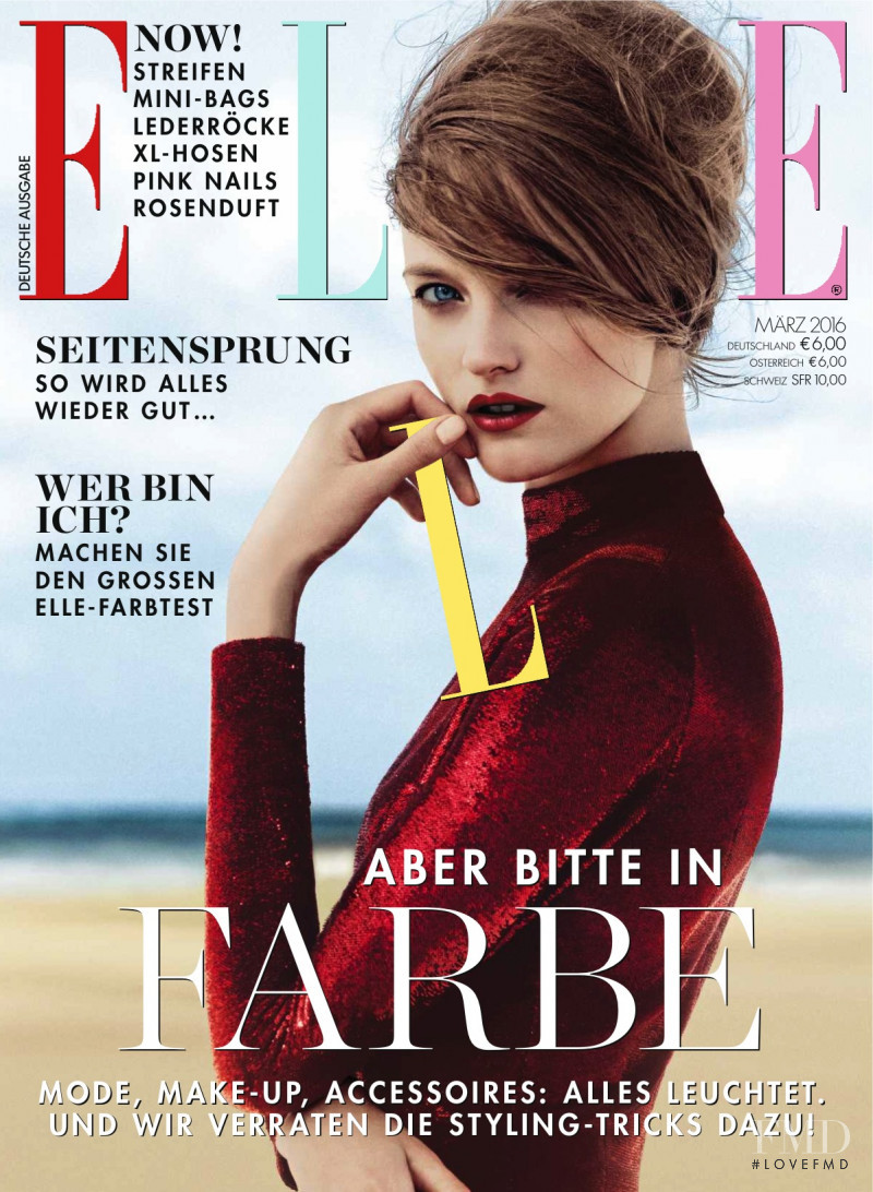 Vlada Roslyakova featured on the Elle Germany cover from March 2016