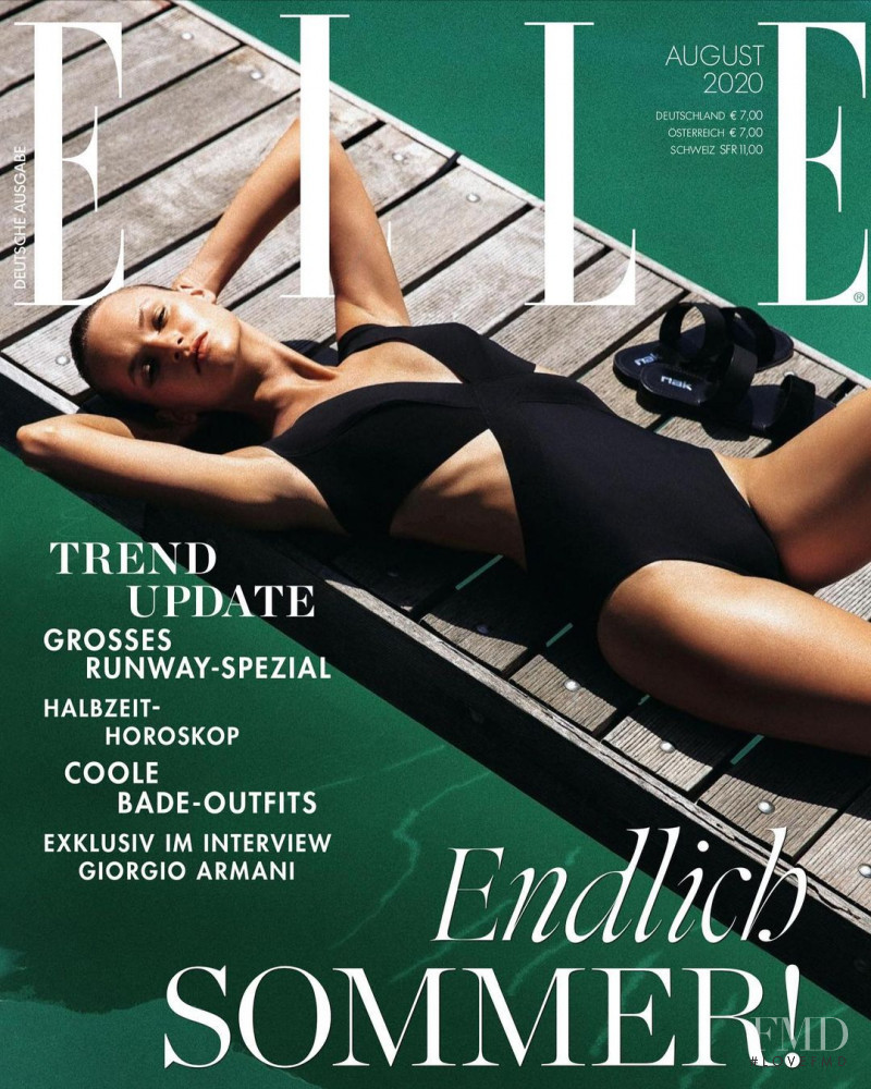 featured on the Elle Germany cover from August 2020
