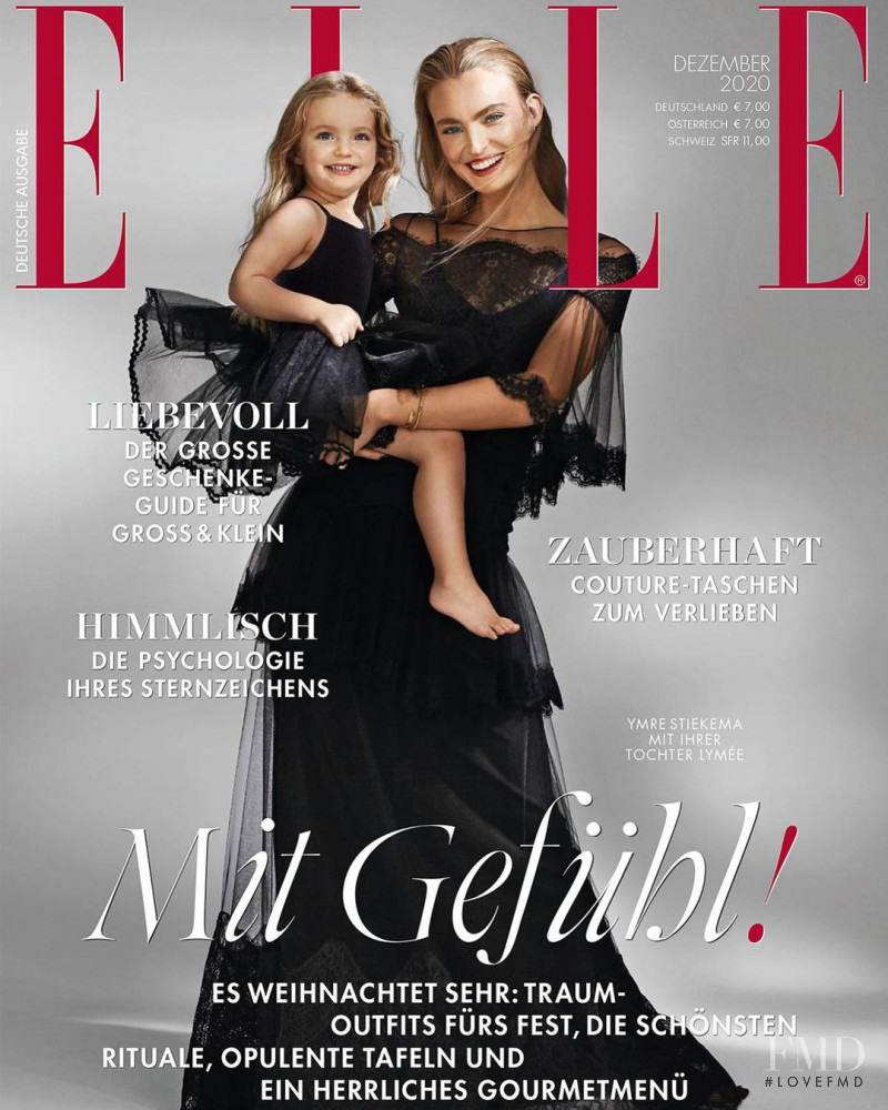 Ymre Stiekema featured on the Elle Germany cover from December 2020