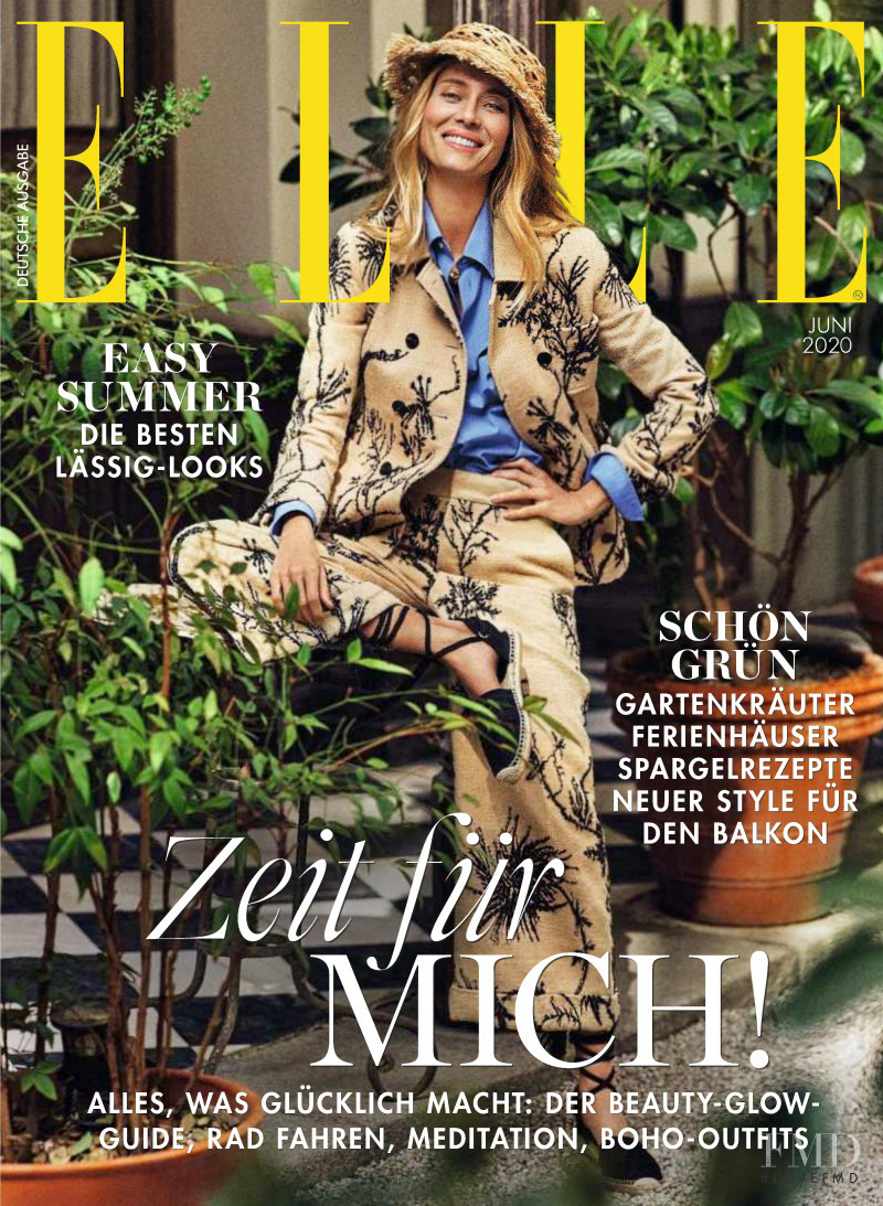 Vanessa Lorenzo featured on the Elle Germany cover from June 2020