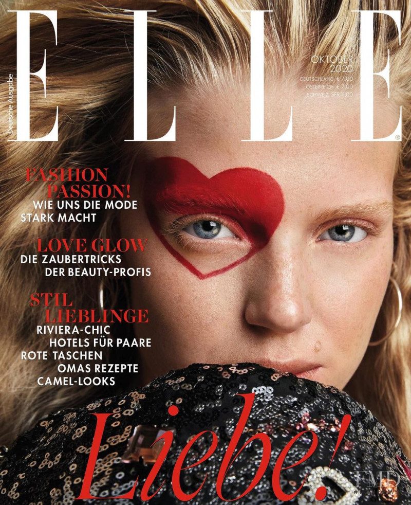Liv Benediktsdóttir featured on the Elle Germany cover from October 2020