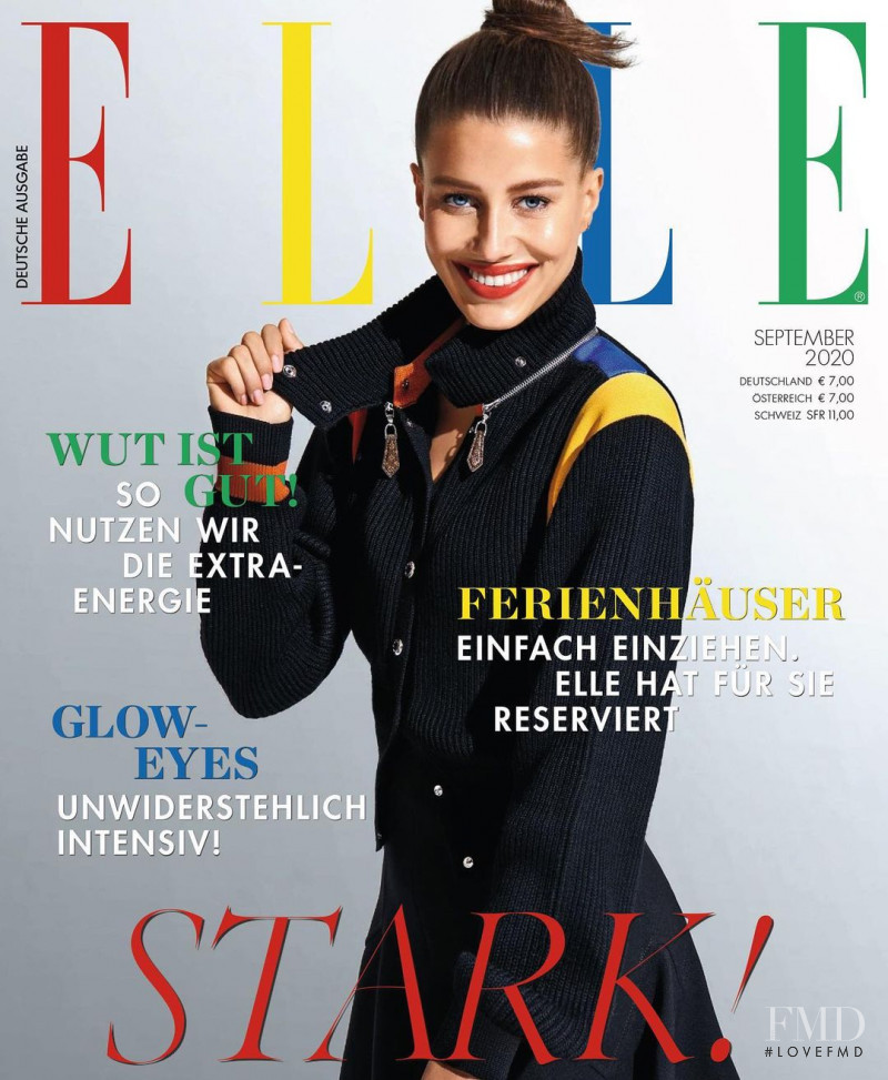 Nicole Poturalski featured on the Elle Germany cover from September 2020