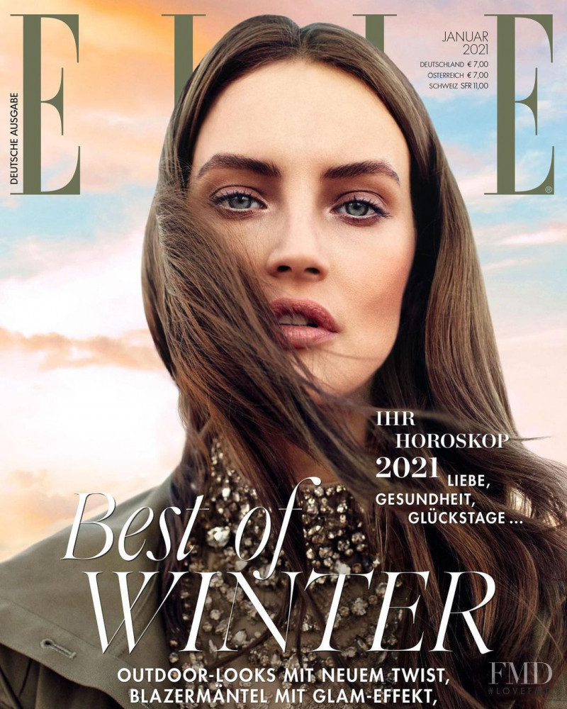 Marianna Idzikowska featured on the Elle Germany cover from January 2021