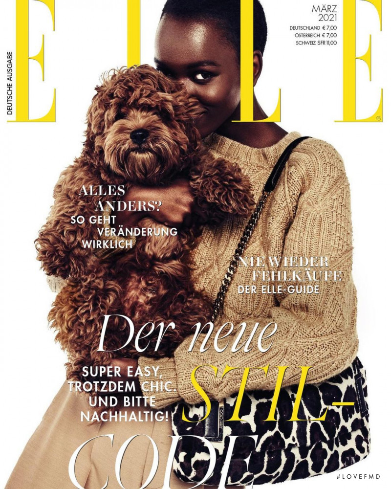 Herieth Paul featured on the Elle Germany cover from March 2021
