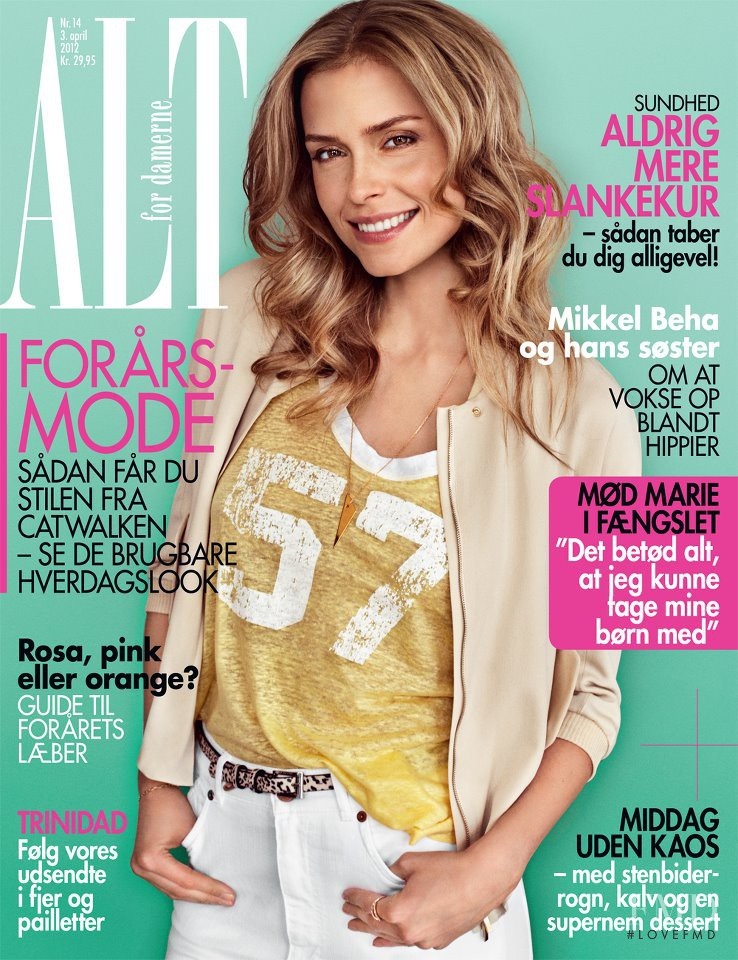 Stine Sowart featured on the ALT for damerne cover from April 2012
