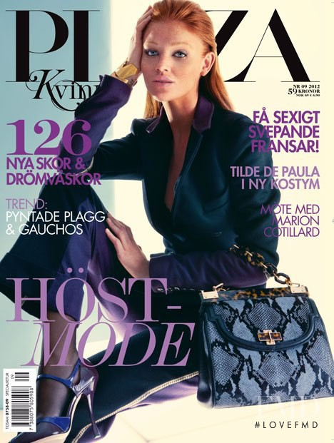 Cintia Dicker featured on the Plaza Kvinna cover from September 2012