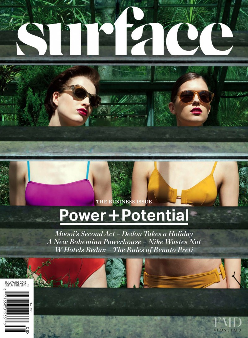 Annemarije Rus, Nicole Hofman featured on the Surface cover from July 2012