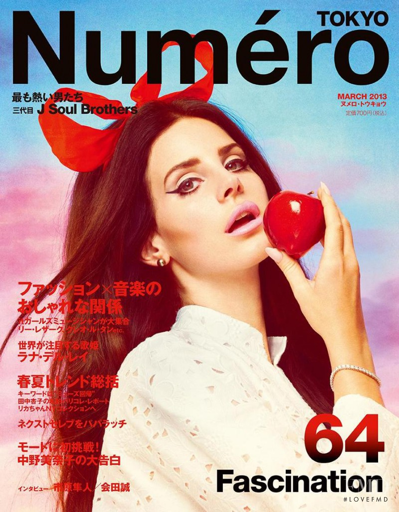 Lana Del Rey featured on the Numéro Tokyo cover from March 2013