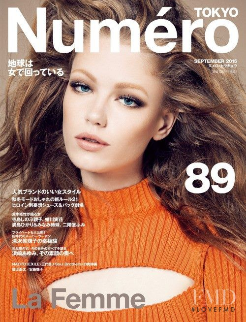 Hollie May Saker featured on the Numéro Tokyo cover from September 2015