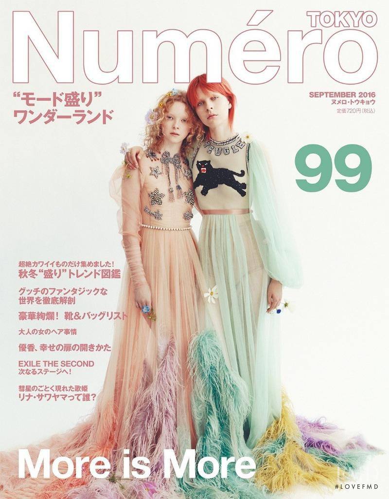 Willy Morsch, Lily Nova featured on the Numéro Tokyo cover from September 2016