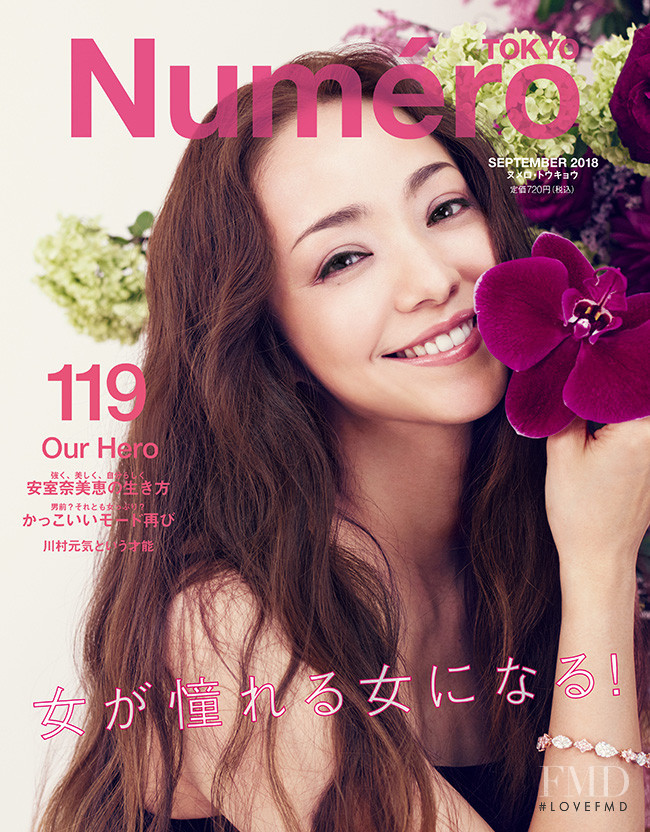 Namie Amuro featured on the Numéro Tokyo cover from September 2018
