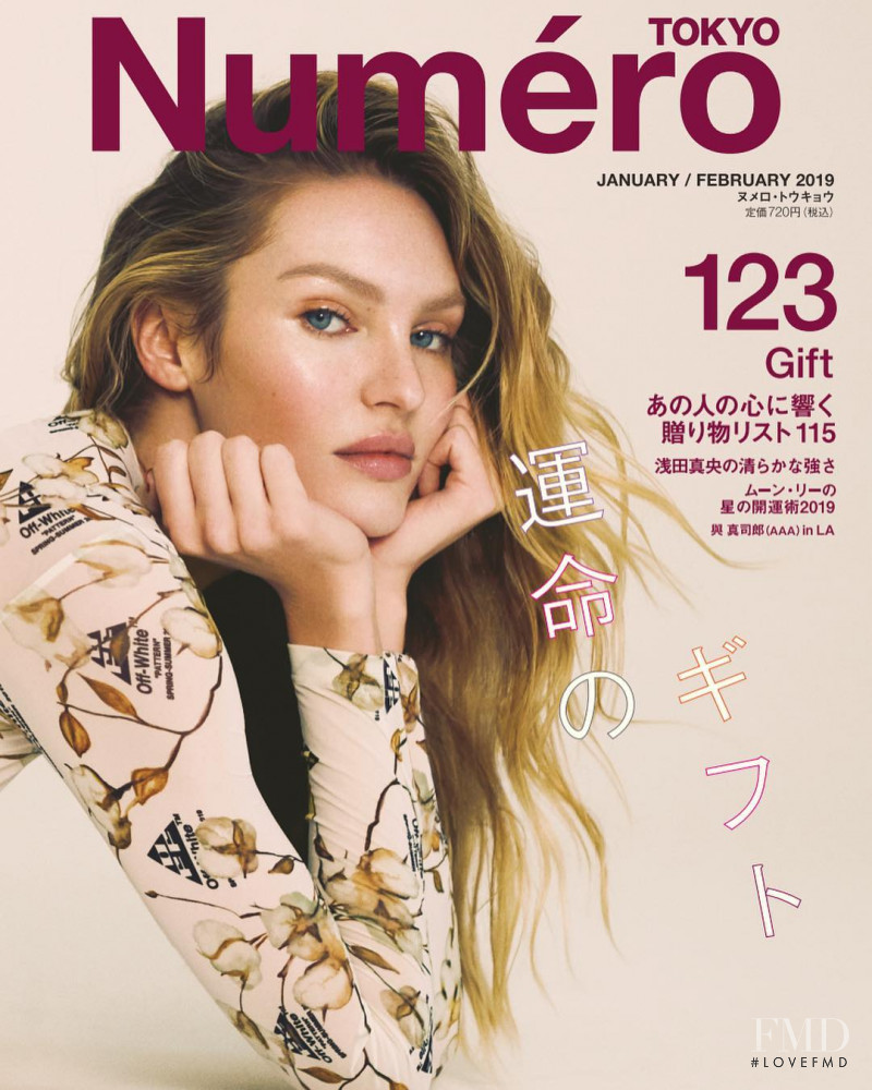 Candice Swanepoel featured on the Numéro Tokyo cover from January 2019