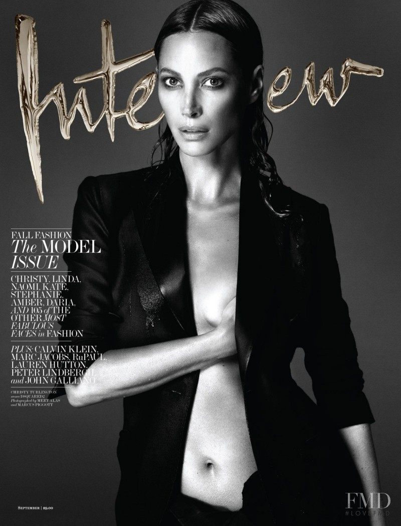 Christy Turlington featured on the Interview cover from September 2013