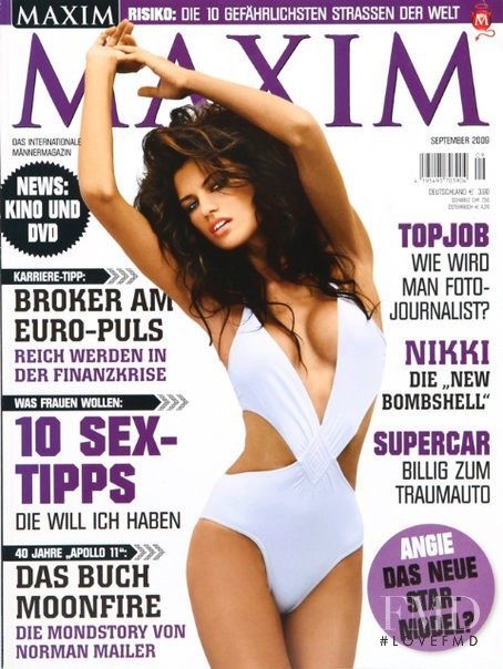 Nikki DuBose featured on the Maxim Germany cover from September 2009