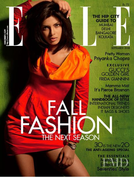 featured on the Elle India cover from September 2008