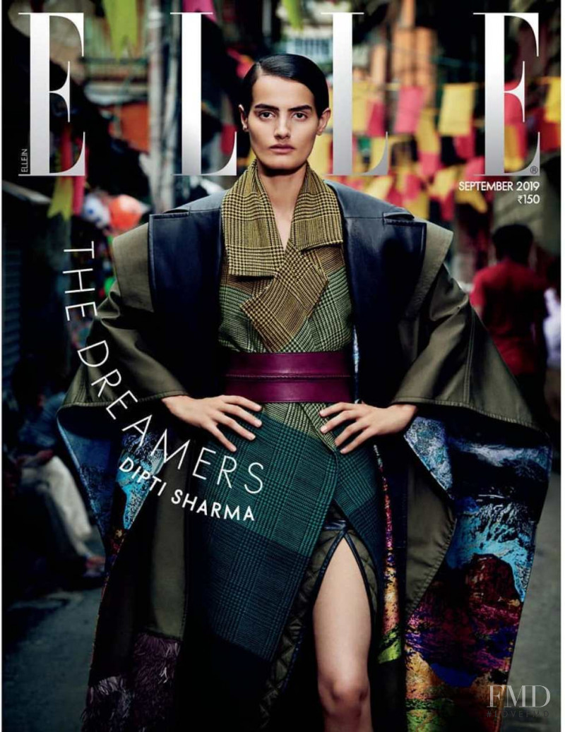Dipti Sharma featured on the Elle India cover from September 2019