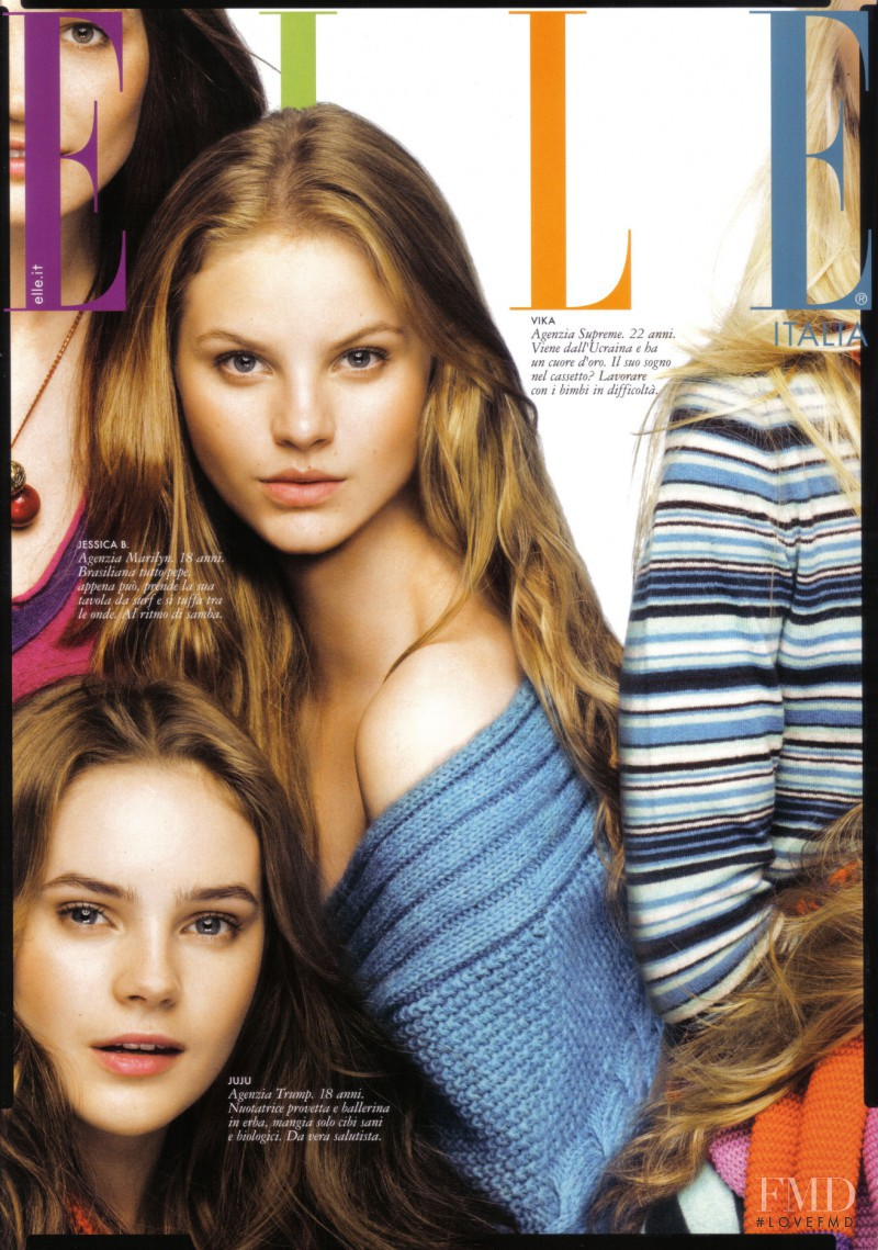 featured on the Elle Italy cover from August 2009