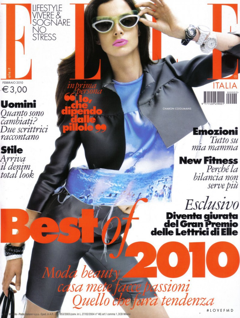 featured on the Elle Italy cover from February 2010