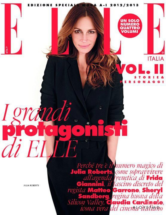 Julia Roberts featured on the Elle Italy cover from October 2012