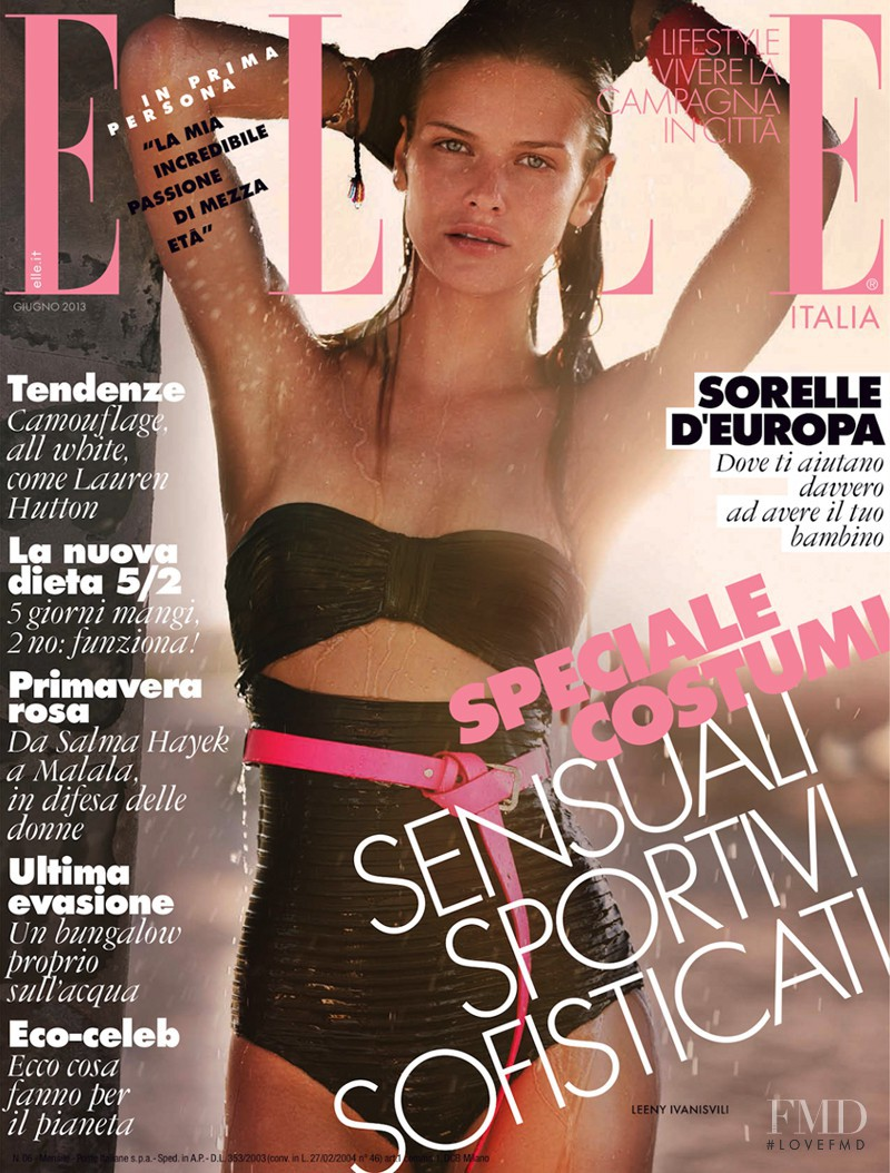 Leeny Ivanisvili featured on the Elle Italy cover from June 2013