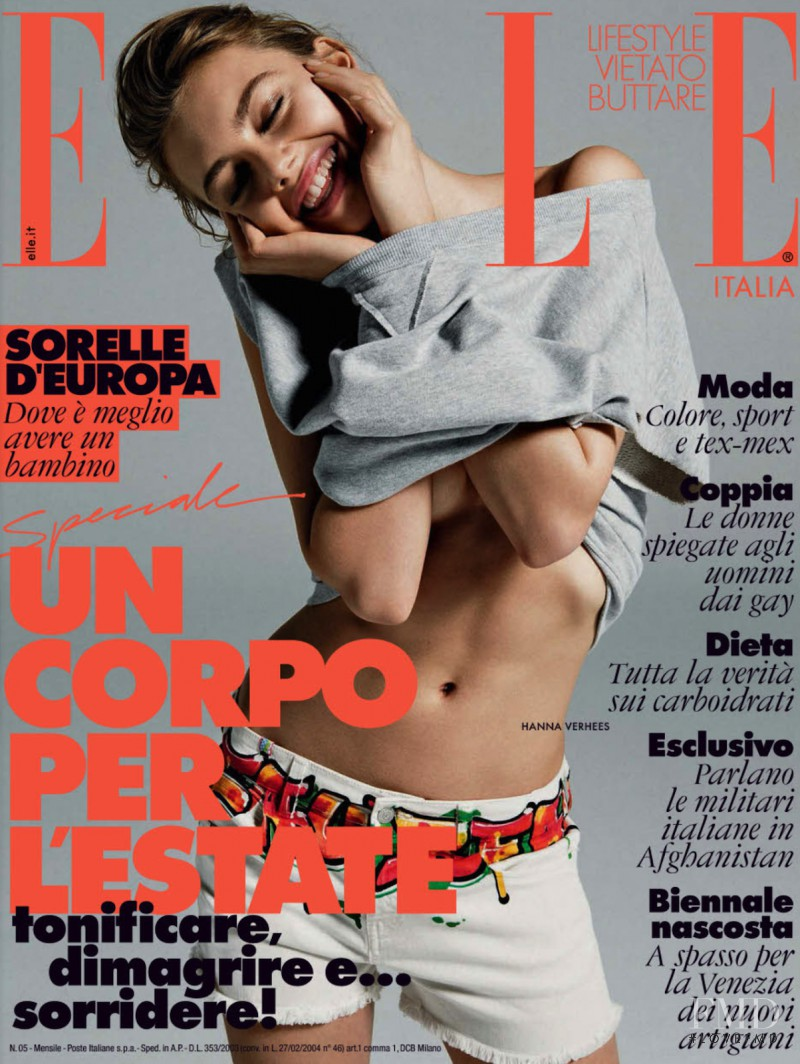 Hanna Verhees featured on the Elle Italy cover from May 2013