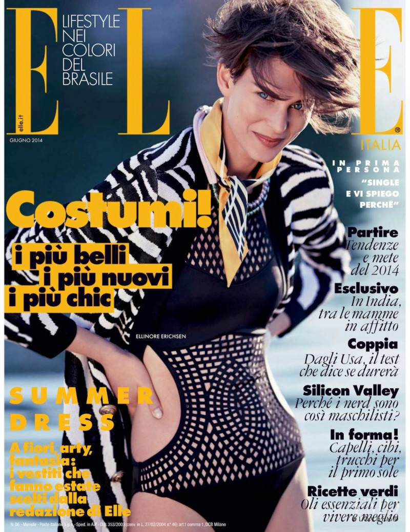 Ellinore Erichsen featured on the Elle Italy cover from June 2014