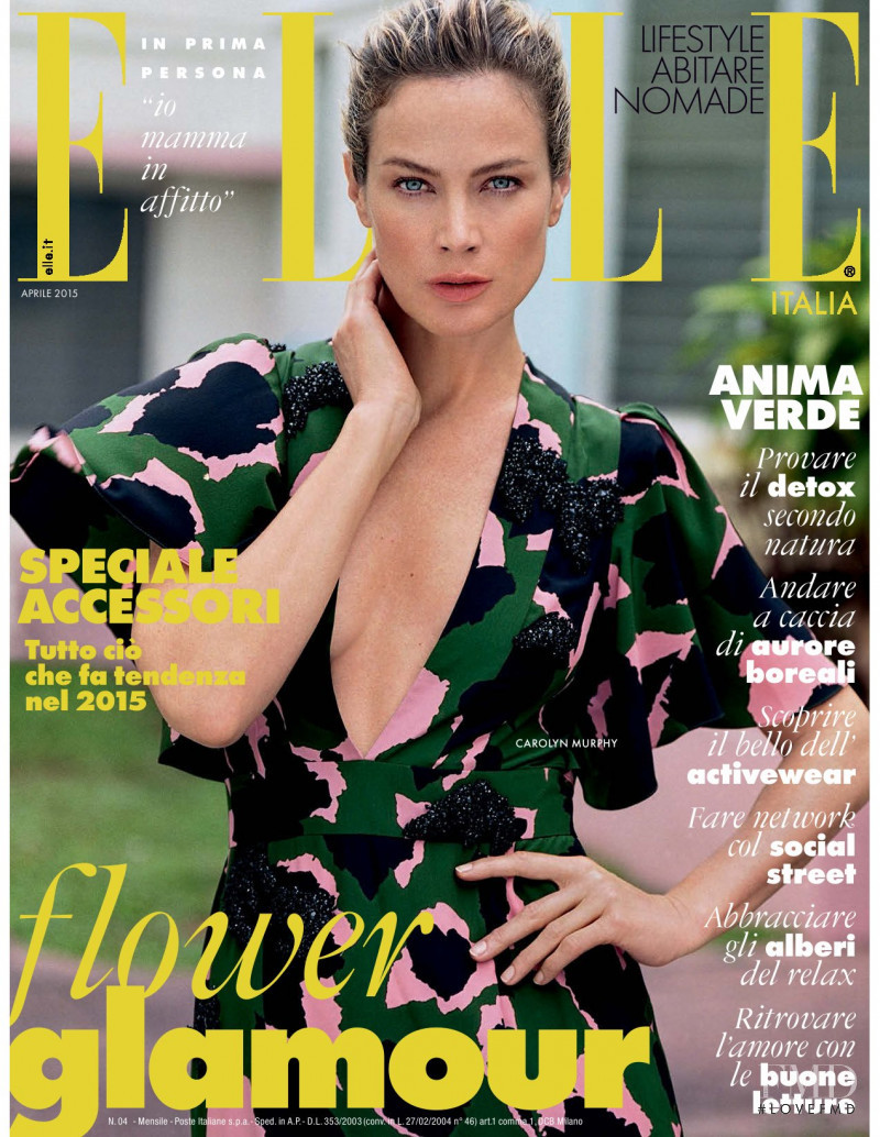 Carolyn Murphy featured on the Elle Italy cover from April 2015
