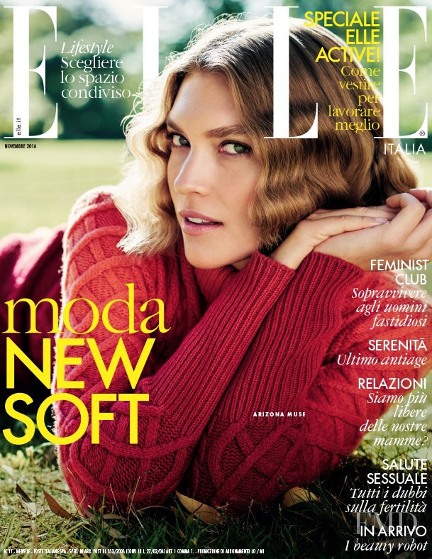 Arizona Muse featured on the Elle Italy cover from November 2016