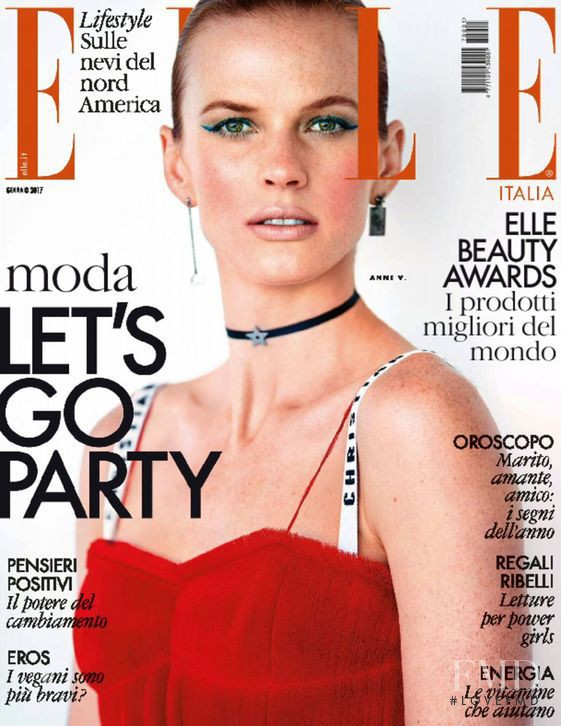 Anne Vyalitsyna featured on the Elle Italy cover from January 2017