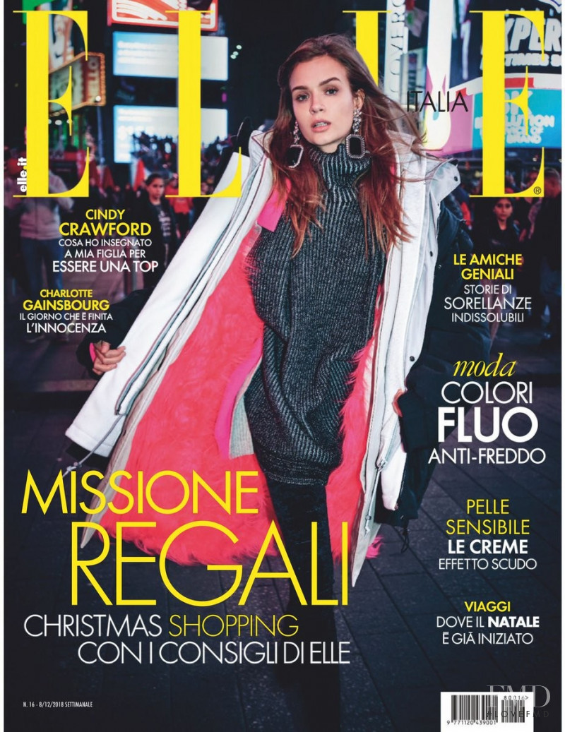Josephine Skriver featured on the Elle Italy cover from December 2018
