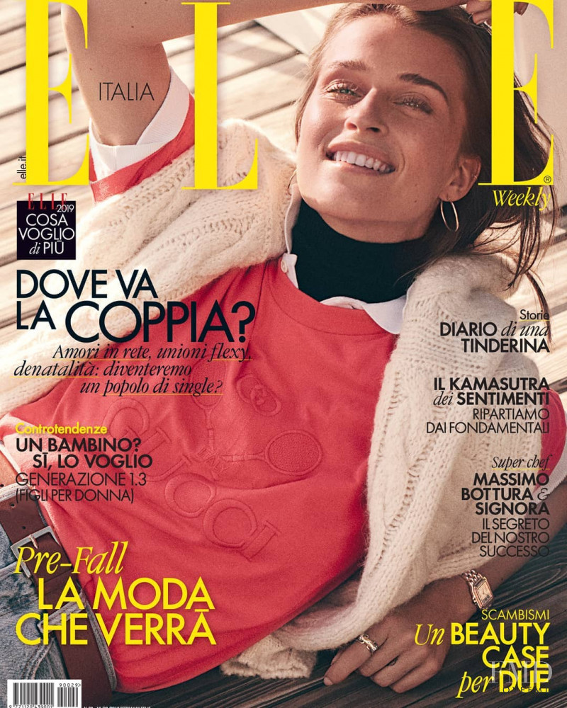 featured on the Elle Italy cover from August 2019