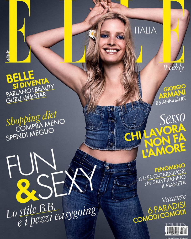 featured on the Elle Italy cover from July 2019