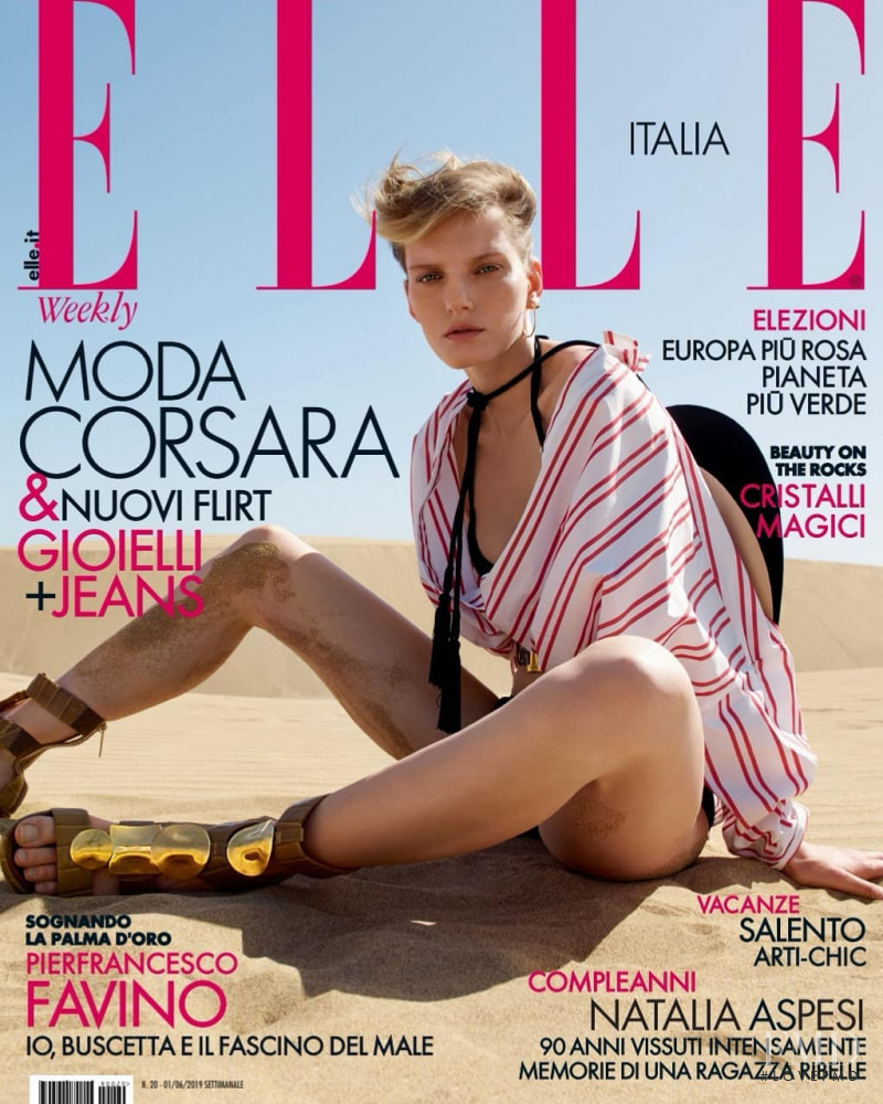 featured on the Elle Italy cover from June 2019
