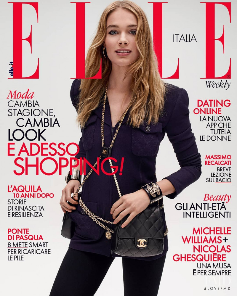 featured on the Elle Italy cover from March 2019