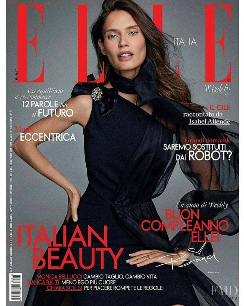 featured on the Elle Italy cover from November 2019