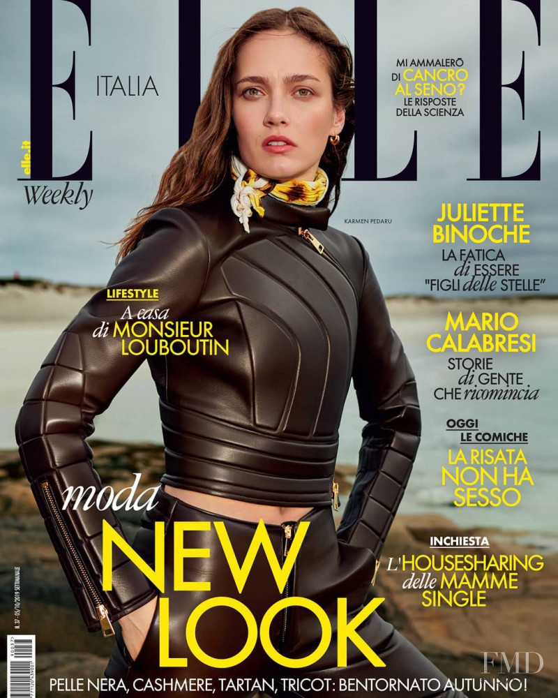 Karmen Pedaru featured on the Elle Italy cover from October 2019