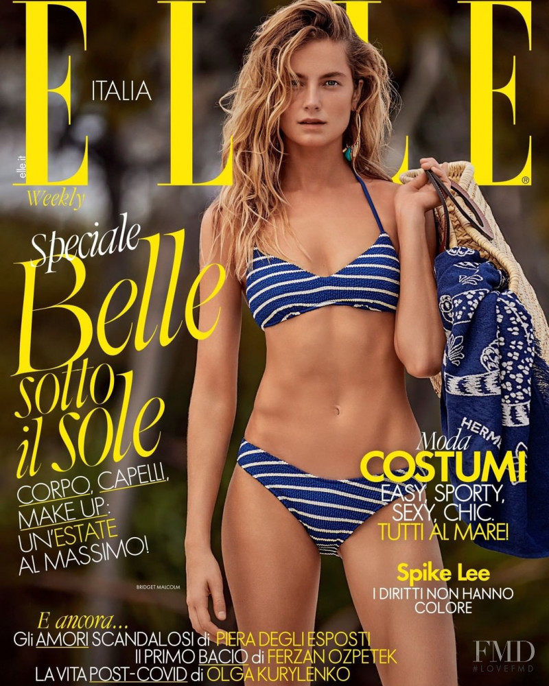 Bridget Malcolm featured on the Elle Italy cover from June 2020