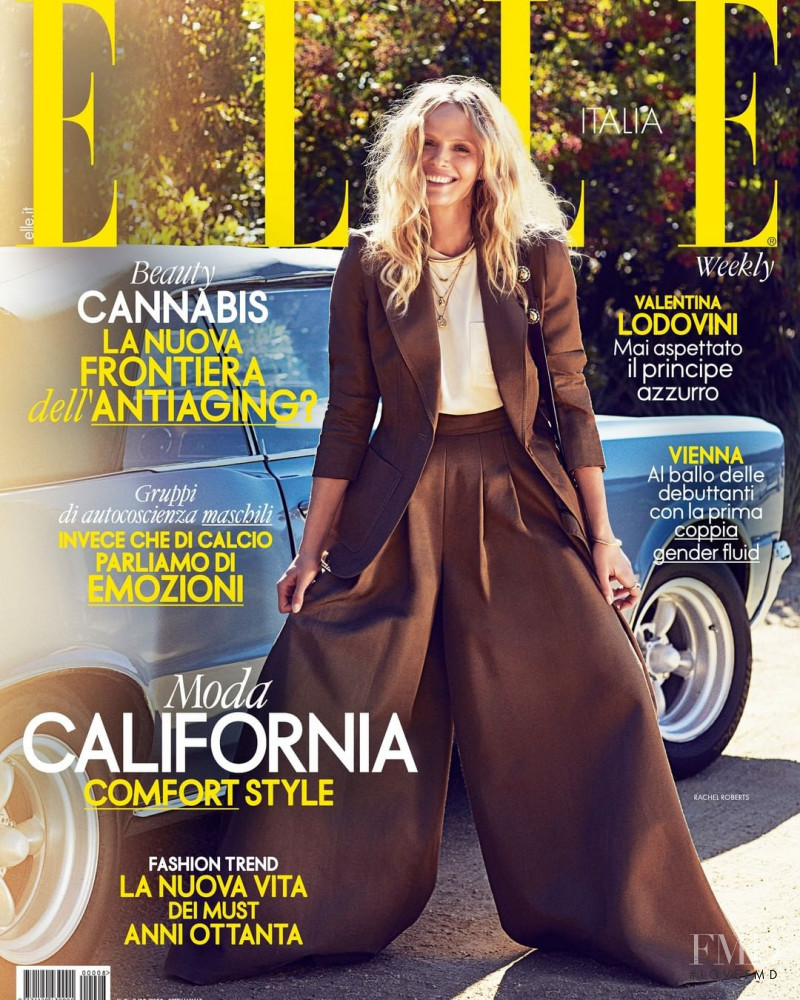 Rachel Roberts featured on the Elle Italy cover from March 2020
