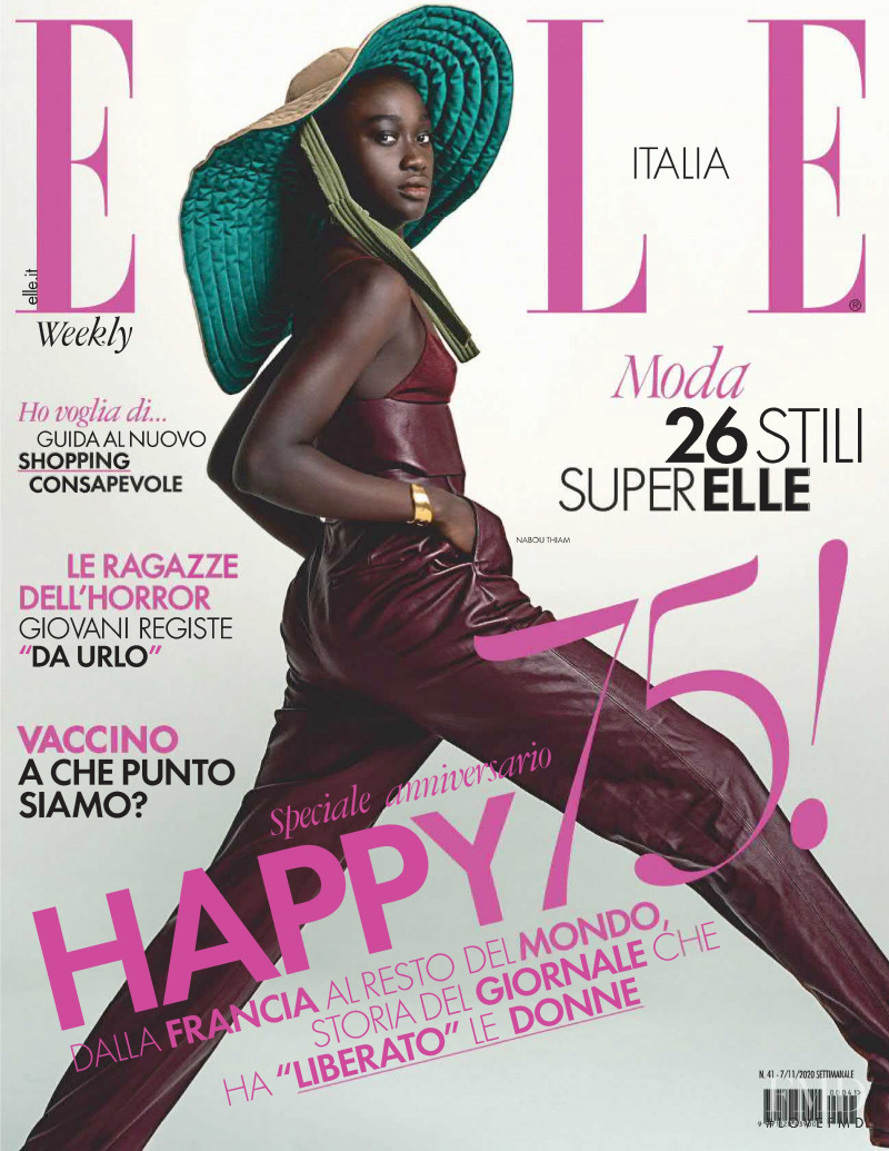 Nabou Thiam featured on the Elle Italy cover from November 2020
