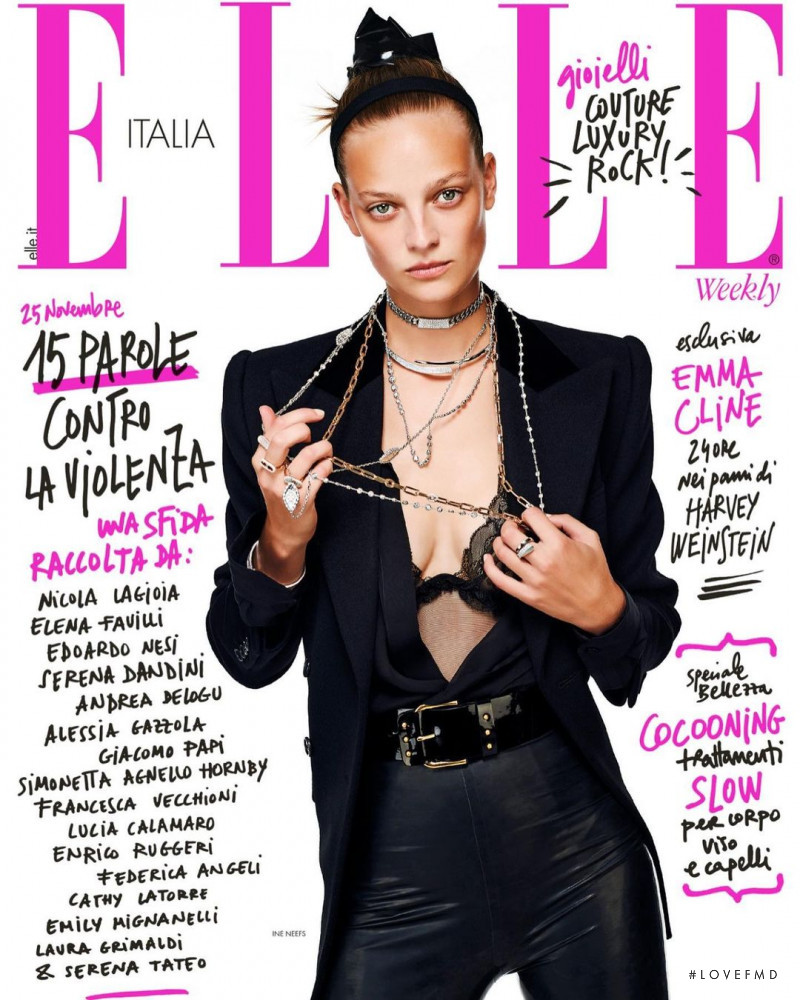 Ine Neefs featured on the Elle Italy cover from November 2020