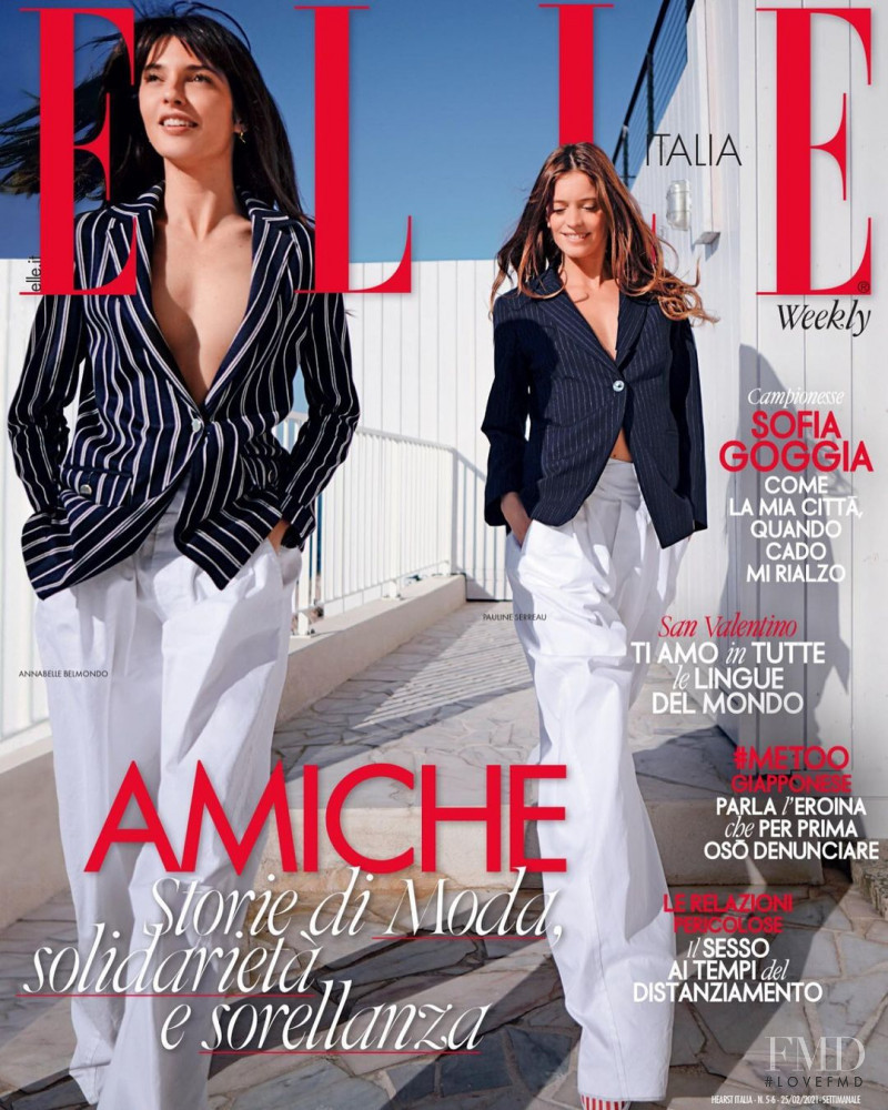 Pauline Serreau featured on the Elle Italy cover from February 2021